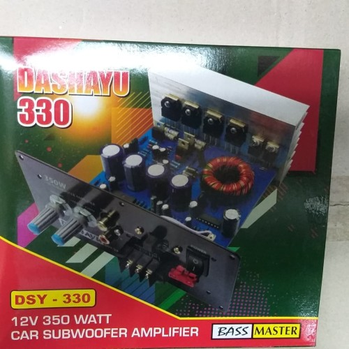 Foto Produk DSY 330 power 350watt mono block subwoofer dari hanna elec