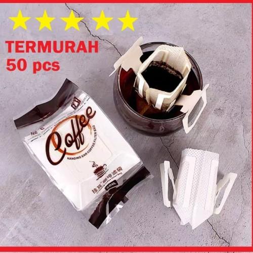 Foto Produk [50 PCS] MURAH! Saringan Kopi Kertas Filter Coffee Dripper Drip Bag dari Jasa Impor Tiongkok