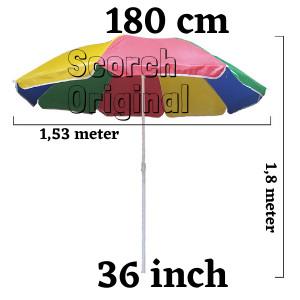 Foto Produk Payung Pantai Murah/ Tenda PKL / Taman UK-36 inch (90 -180cm) Grosir dari Lakban Lakban