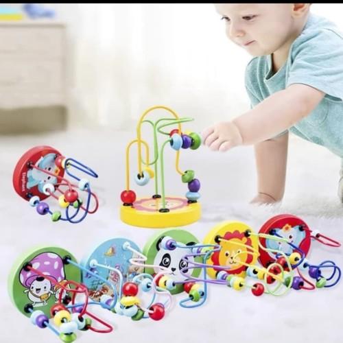 Foto Produk Mainan edukasi anak Mainan Berhitung lingkar manik/Round Beads count dari AUTO KID II