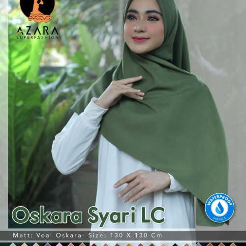 Foto Produk Jilbab Hijab Kerudung Polos Oskara Syar'i Lasercut Waterproof dari Dodollan Hijab