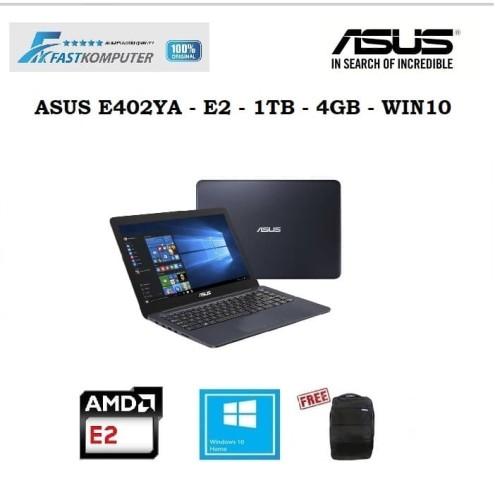 "Foto Produk ASUS E402YA - AMD E2-7015 - 4GB - 1TB - VGA AMD R2 - 14"" - WIN10 - GA202T DARKBLUE dari FastKomputer"