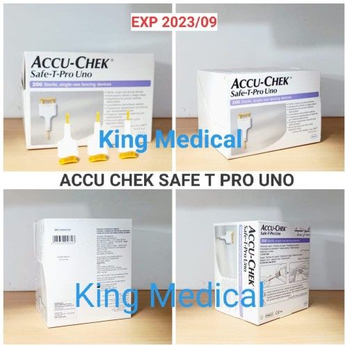 Foto Produk Jarum Lancet Accu Chek Safe T Pro Uno isi 200 AccuChek - Isi 25 dari King Medical