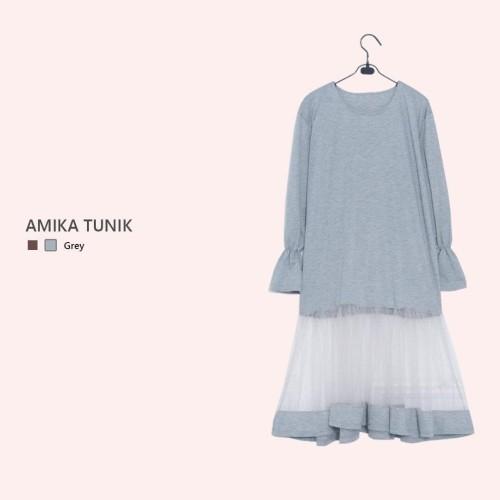 Jual Dress Tunik Gamis Amika Abu Abu Kab Bogor Bolehcariapa Tokopedia
