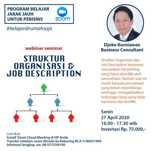 Jual Struktur Organisasi Job Description Belajar Dari Rumah Kab Tangerang Dk Solusi Bisnis Tokopedia