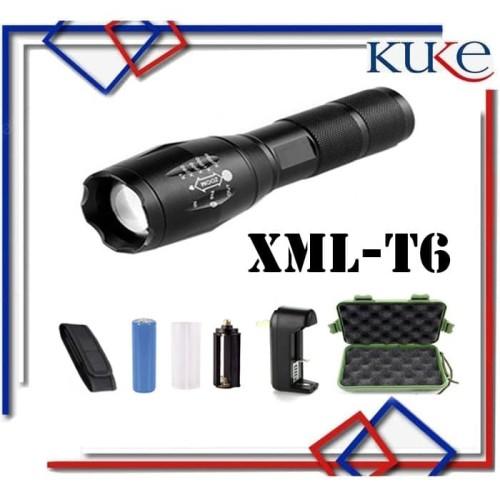 Foto Produk KUKE Senter LED Tactical CREE XML-T6 / Senter CREE Q3-WC Aluminium 10w dari KUKE