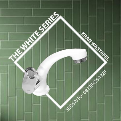 Foto Produk Keran Washtafel Putih / Kran Wastafel Air Cuci Tangan White Series dari serisaito