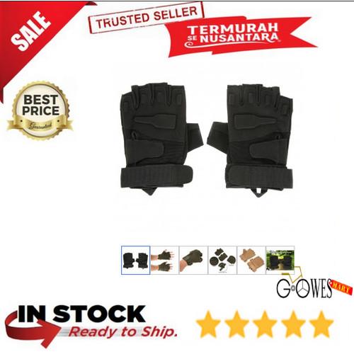 Foto Produk Black Eagle Sarung Tangan Half Finger Size L - Black dari gowesmart