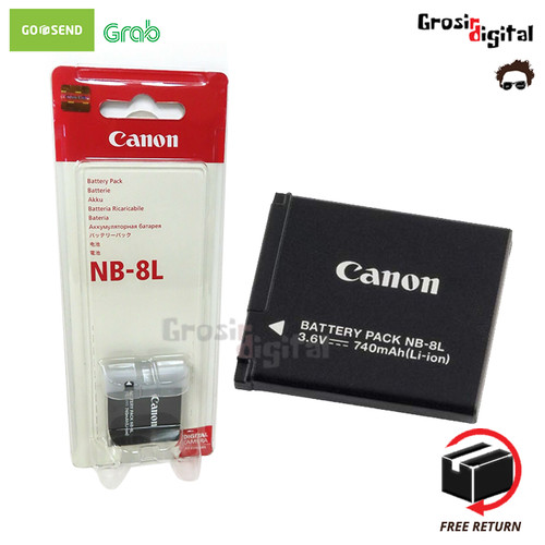 Foto Produk Battery/baterai/batre Canon NB-8L dari Grosir Digital