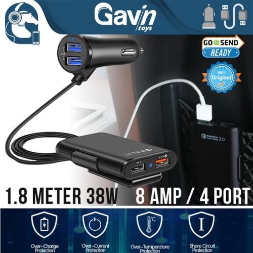 Foto Produk Casan Mobil 4 Port Extender Car Charger 4 USB Quick Charger Universal dari gavintoys