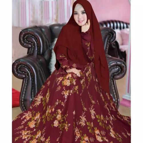 Jual Baju Abaya Wanita Muslimah Busana Gamis Syari Jubah Muslim Terbaru Maroon Jakarta Barat Brg Hijrah Tokopedia
