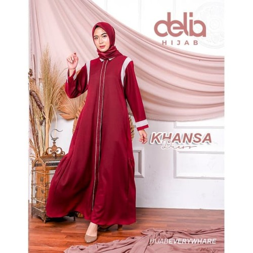 Jual Baju Gamis Modern 2020 Terbaru Khansa Dress Delia Hijab Maroon M Kota Sukabumi Official Delia Hijab Tokopedia