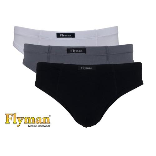 Foto Produk Flyman Man Brief Basic Celana Dalam Pria Dewasa FM 3075 1 Pack Isi 3 - L dari Flyman Nathalie Store