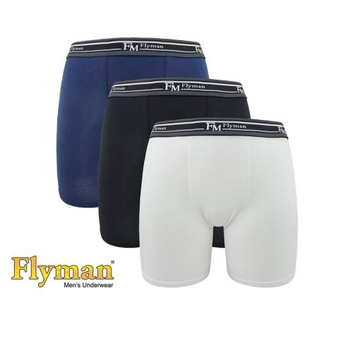 Foto Produk Flyman Long Boxer Elastic Pria Dewasa FM 3225 1 Pack Isi 3 - L dari Flyman Nathalie Store