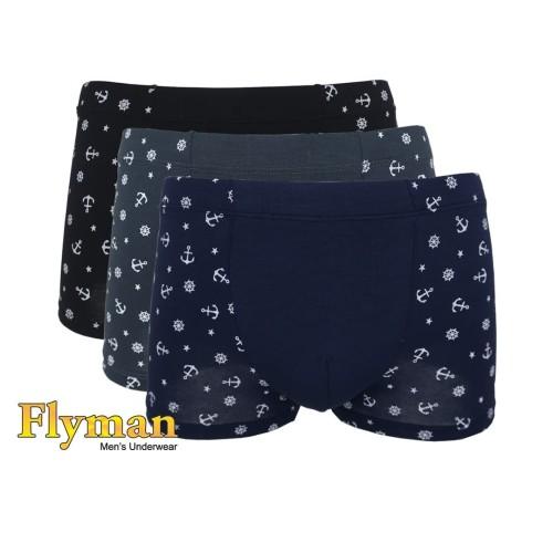 Foto Produk Flyman Man Anchor Boxer Pria Dewasa FM 3167 1 Pack Isi 3 - XL dari Flyman Nathalie Store