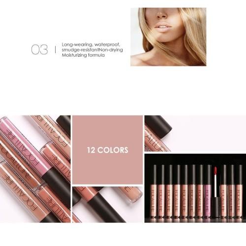 FOCALLURE Liquid Lipstick Metalic Long Lasting Waterproof FA24 - FA24-19L 4