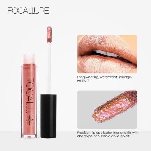 FOCALLURE Liquid Lipstick Metalic Long Lasting Waterproof FA24 - FA24-19L 3