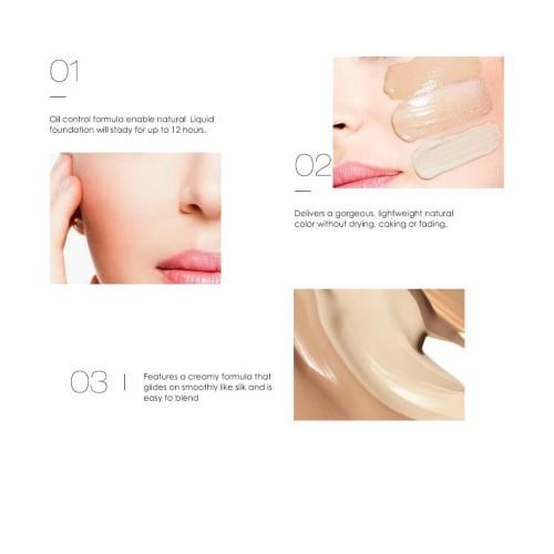 FOCALLURE Liquid Foundation BB Cream Face Base Makeup FA30 - FA30-06 4