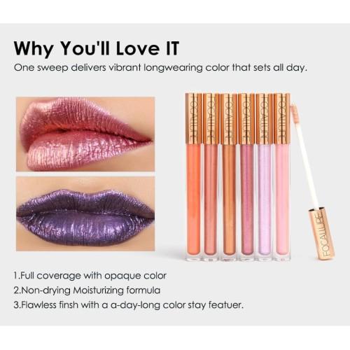 FOCALLURE 12 New Arrival Shimmer Lip Gloss Waterproof Liquid FA45 - FA45-01 3