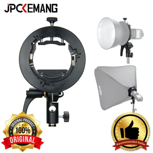 Foto Produk Bracket Flash Godox Bracket S2 Speedlite for Bowens Godox ORIGINAL dari JPCKemang