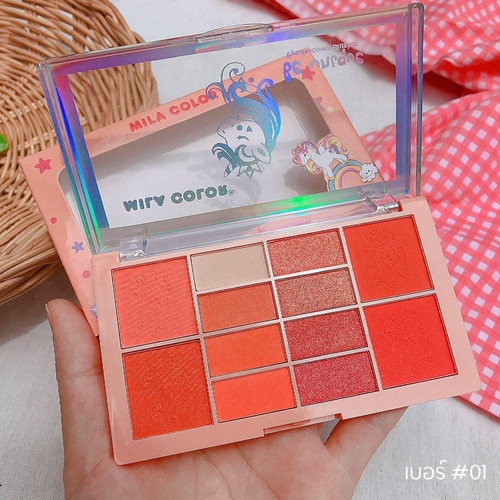 Foto Produk MILA COLOR EYESHADOW & BLUSHER PALETTE (BE UNIQUE / ICE CREAM) - be unique dari startled.id