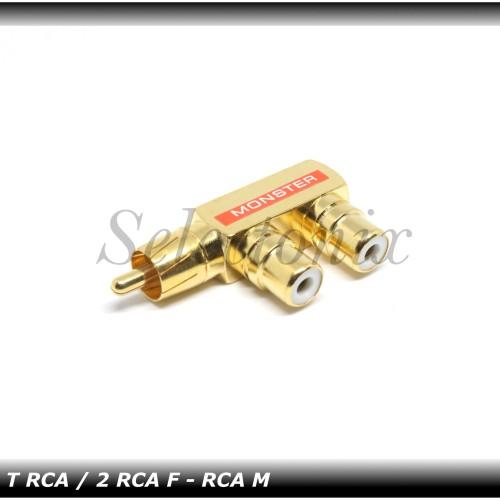 Foto Produk Cabang RCA / T RCA 1 keluar 2 (Gold Taiwan) dari Selectonix