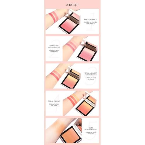 FOCALLURE 4 Colors Ombre Blush On Silky Cream Transparent Powder FA78 - FA78-03 4