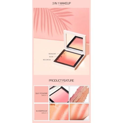 FOCALLURE 4 Colors Ombre Blush On Silky Cream Transparent Powder FA78 - FA78-03 2