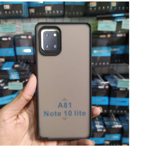 Foto Produk Samsung A81/Note 10 lite - Camera Protection Transparan Hard Case - Hijau dari CJ Indo Shop