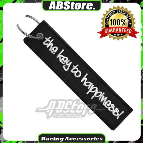 Foto Produk Gantungan Kunci Keychain THE KEY TO HAPPINESS Premium dari AB Embroidery Store