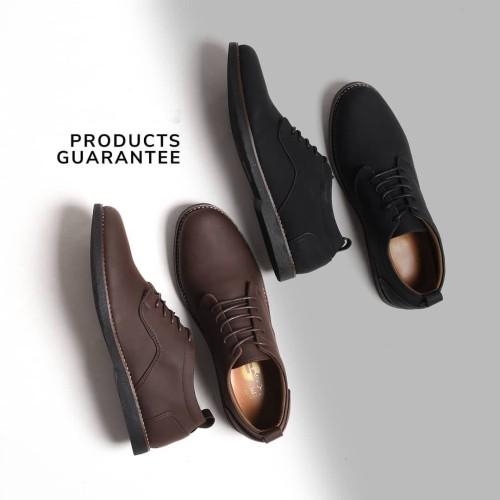Foto Produk REYL BRIDGE SERIES | Sepatu Pantofel Pria Sepatu Kulit Formal Pria Ori - Cokelat, 42 dari sepatulokalid