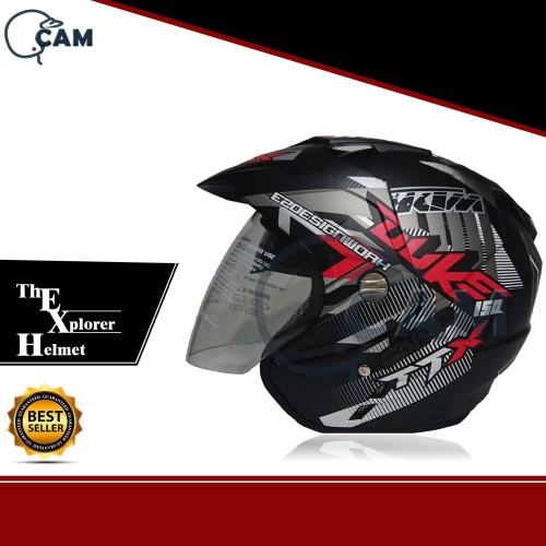 Foto Produk Helm DMN 2 kaca double visor Duke Black doff red dari Boss helm