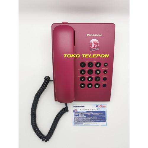 Foto Produk Telepon Panasonic / Telepon Rumah/Telepon Kantor KX-TS505/TS 505 - Merah dari Toko Telepon