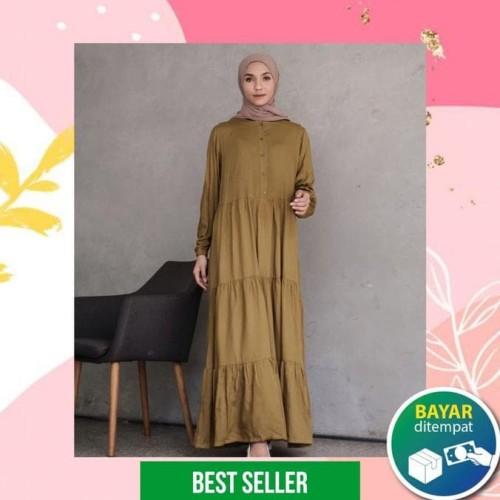 Jual Homey Dress Polos Gamis Dewasa Bahan Katun Rayon Premium Olive Jakarta Barat Felixsituhorang Tokopedia