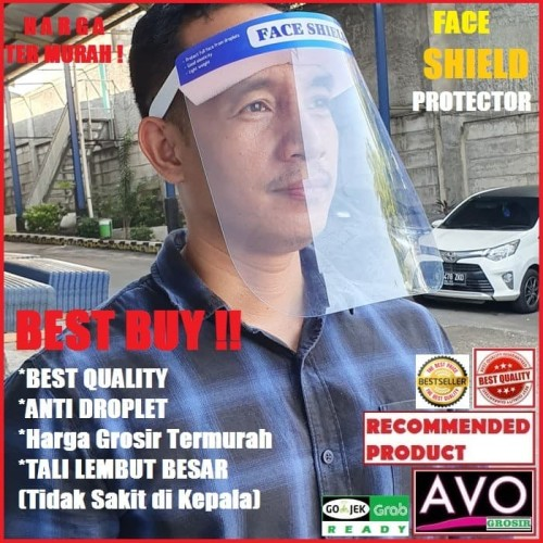 Foto Produk face shield protector APD pelindung wajah anti droplet virus corona dari AVO Grosir
