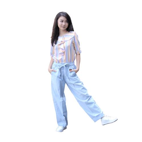 Foto Produk Kulot Anak Perempuan Lobo Sarah Pants Warna Biru Size S dari asheeqaofficial