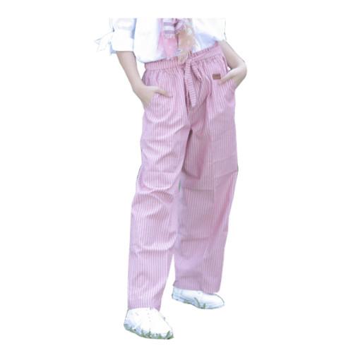 Foto Produk Kulot Anak Perempuan Lobo Sarah Pants Chambray Stripe Warna Pink dari asheeqaofficial