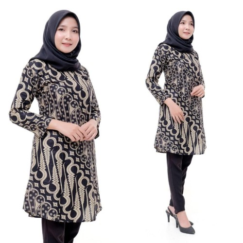 Foto Produk Tunik Batik Fashion Wanita Terbaru - M dari Meyda_Batik
