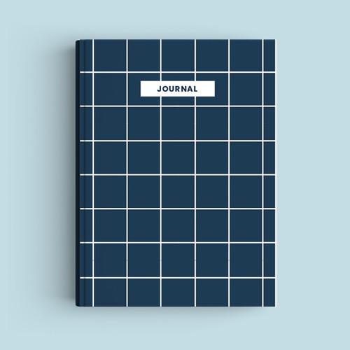 Foto Produk Notebook Custom A5 - Navy Squares - Journal 2020 | Planner - HVS Polos dari The Book ID