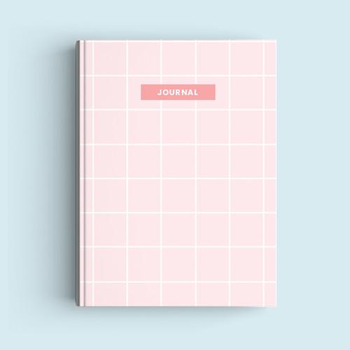 Foto Produk Notebook Custom A5 - Pink Squares - Journal 2020 | Planner - HVS Polos dari The Book ID