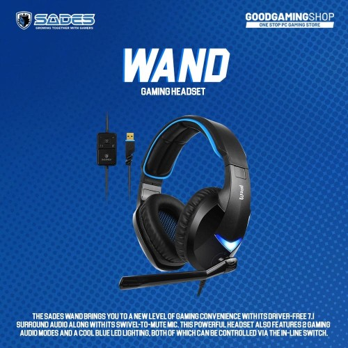 Foto Produk Sades Wand - Gaming Headset dari GOODGAMINGM2M