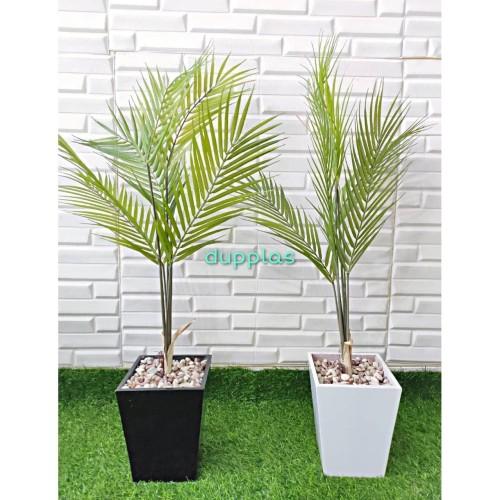 Jual Pohon Daun Palem Lancip Tanaman Artifisial Palsu Hiasan Plastik Rumah Vas Hitam Jakarta Timur Duniapohonplastik Tokopedia