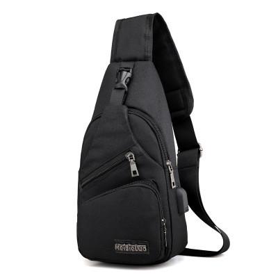 Foto Produk Freeknight Tas Selempang Pria USB Charger Import Sling Bag TS402 - Hitam dari Freeknight