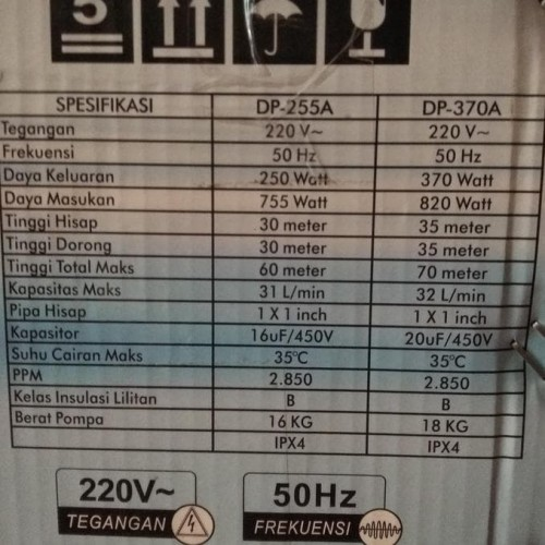 Jual Pompa Air Listrik Sumur Dalam Dabevo Dp 255a Dahliaflower345 Jakarta Utara Dahlia03 Tokopedia