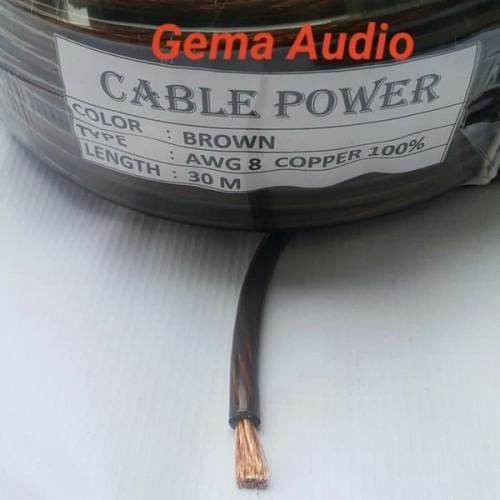 Foto Produk Big Sale Kabel Power 8 Awg 8Awg Tembaga Asli Kabel Setrum Kabel Audi dari reinastore915