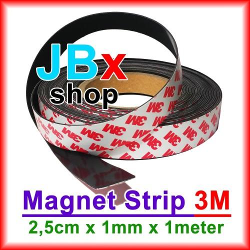 Foto Produk Magnet lembaran strip 3M. Panjang 1m x 25mm x 1mm (PxLxT) dari JBx Shop