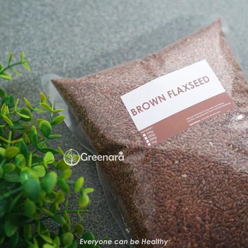 Foto Produk Natural Brown Flaxseed 500gr dari greenara.id