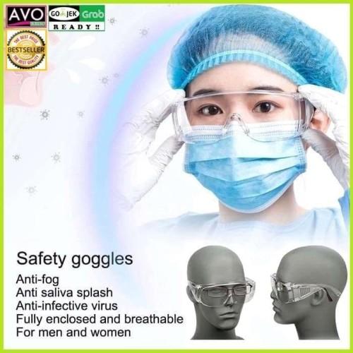 Foto Produk kacamata anti virus saliva bakteri safety glasses best protection dari AVO Grosir
