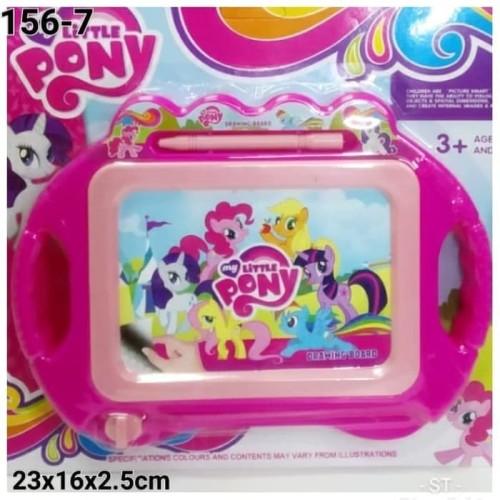 Foto Produk Ciustoys - Mainan Papan Tulis Magnet Little Pony Hapus Geser dari ciustoys