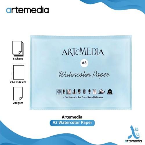 Foto Produk Artemedia Watercolour Paper A3 - Kertas Cat Air dari Artemedia Shop